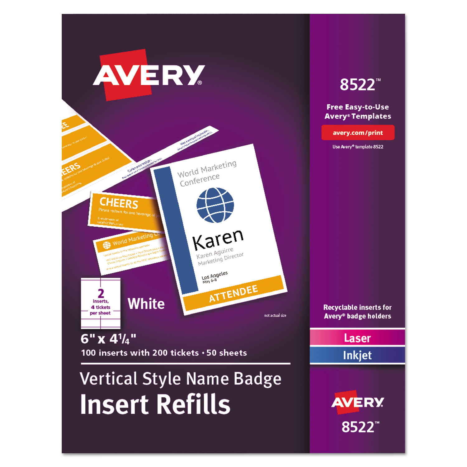 purchase name badge insert refills and other name badge kits