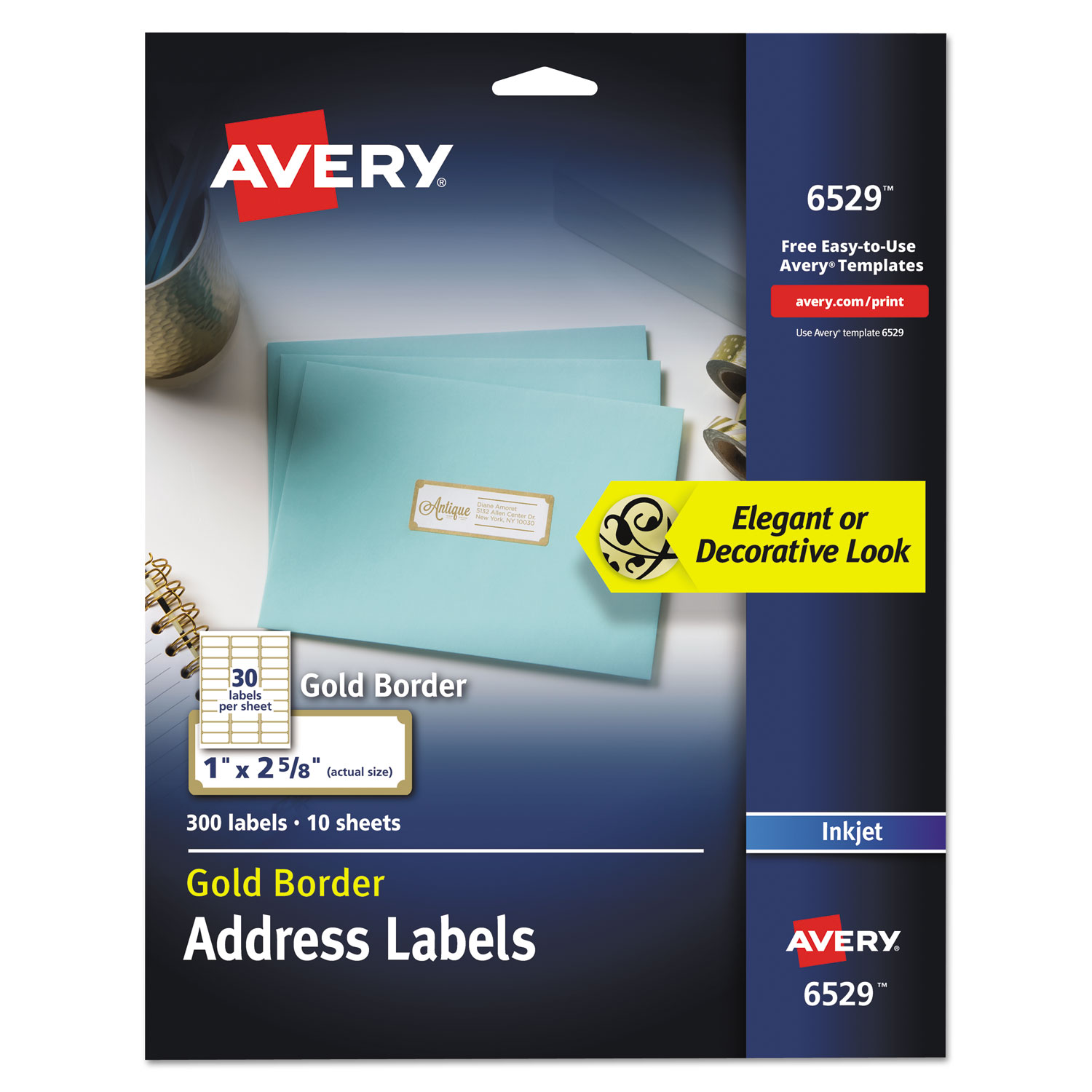 Easy Peel Address Labels w/ Border by Avery® AVE6529 ...
