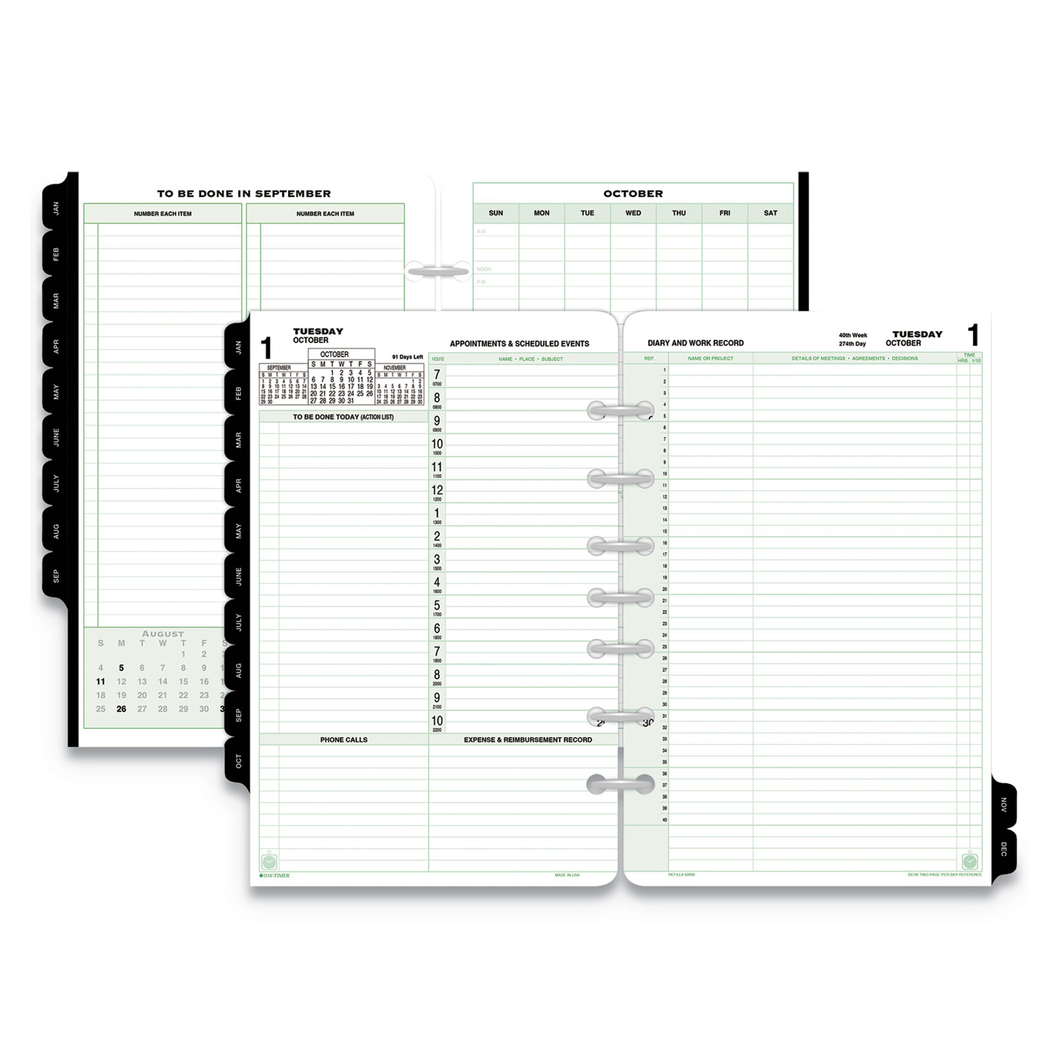 picture relating to Day Organizer known as Reference Dated 2-Site-for each-Working day Organizer Refill, 8 1/2 x 5 1/2, 2020