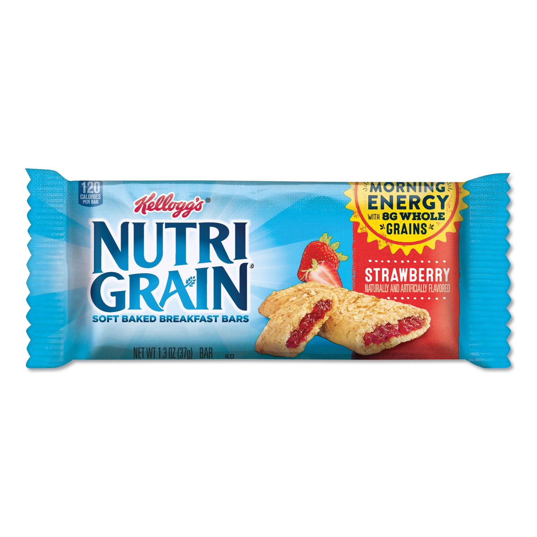 Nutri-Grain Soft Baked Breakfast Bars, Strawberry, Indv Wrapped 1.3 oz Bar, 16/Box