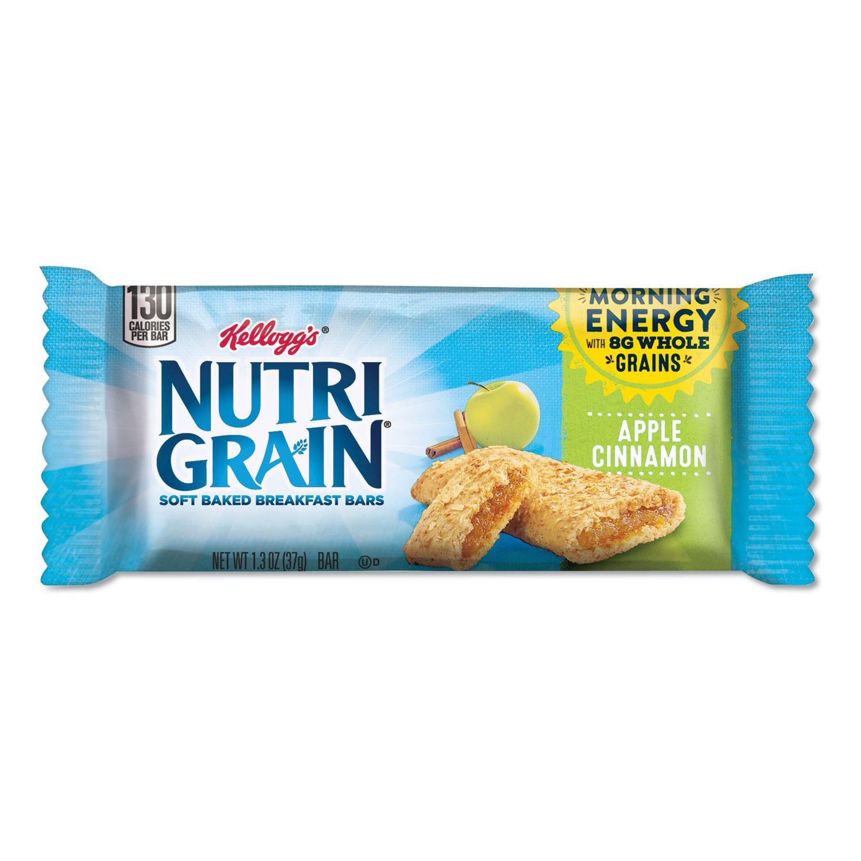 Nutri-Grain Soft Baked Breakfast Bars, Apple-Cinnamon, Indv Wrapped 1.3 oz Bar, 16/Box