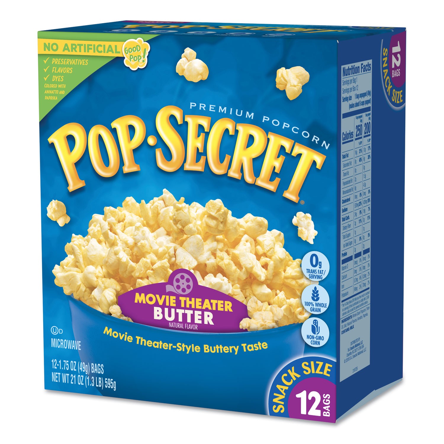 Microwave Popcorn Movie Theatre Butter 1 75 Oz Bags 12 Box Alphapointe