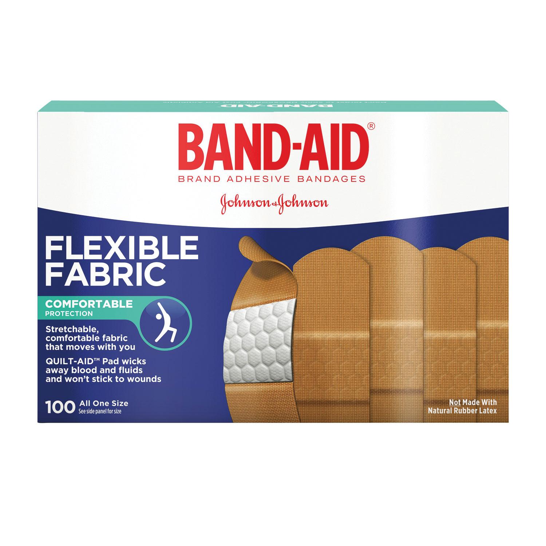 """Flexible Fabric Adhesive Bandages, 1"""" x 3"""", 100/Box"""