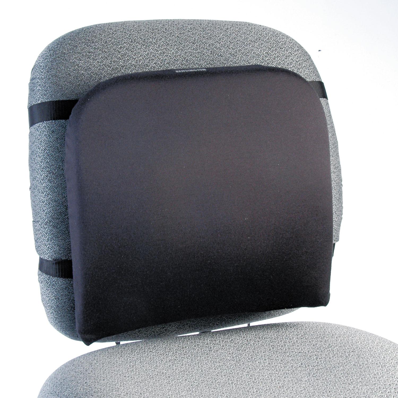 Memory Foam Backrest, 16w x 12d x 16h, Black
