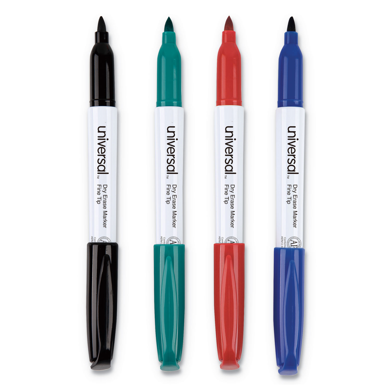 Pen Style Dry Erase Marker, Fine Bullet Tip, Assorted
