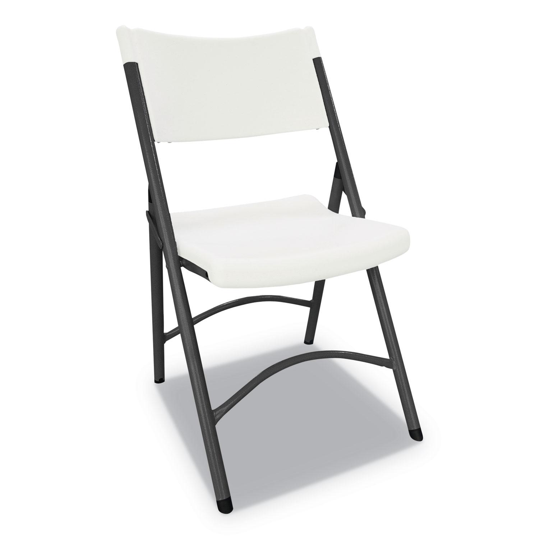 Terrific Premium Molded Resin Folding Chair White Seat White Back Theyellowbook Wood Chair Design Ideas Theyellowbookinfo