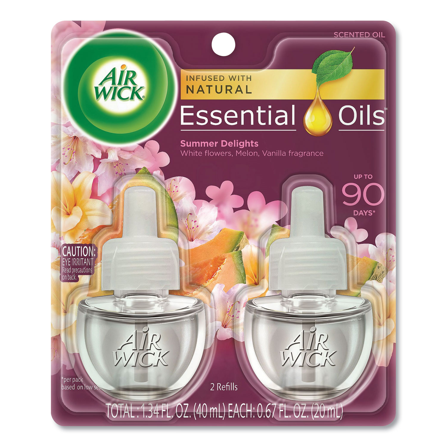 Life Scents Scented Oil Refills, Summer Delights, 0.67 oz, 2/Pack
