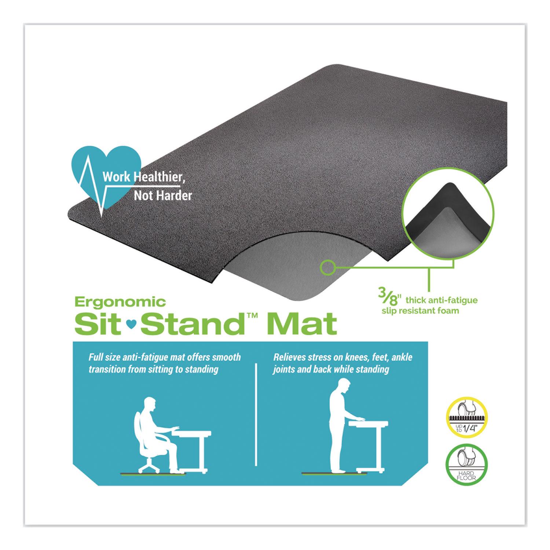 Deflecto Cm24142blkss Ergonomic Sit Stand Mat Zuma
