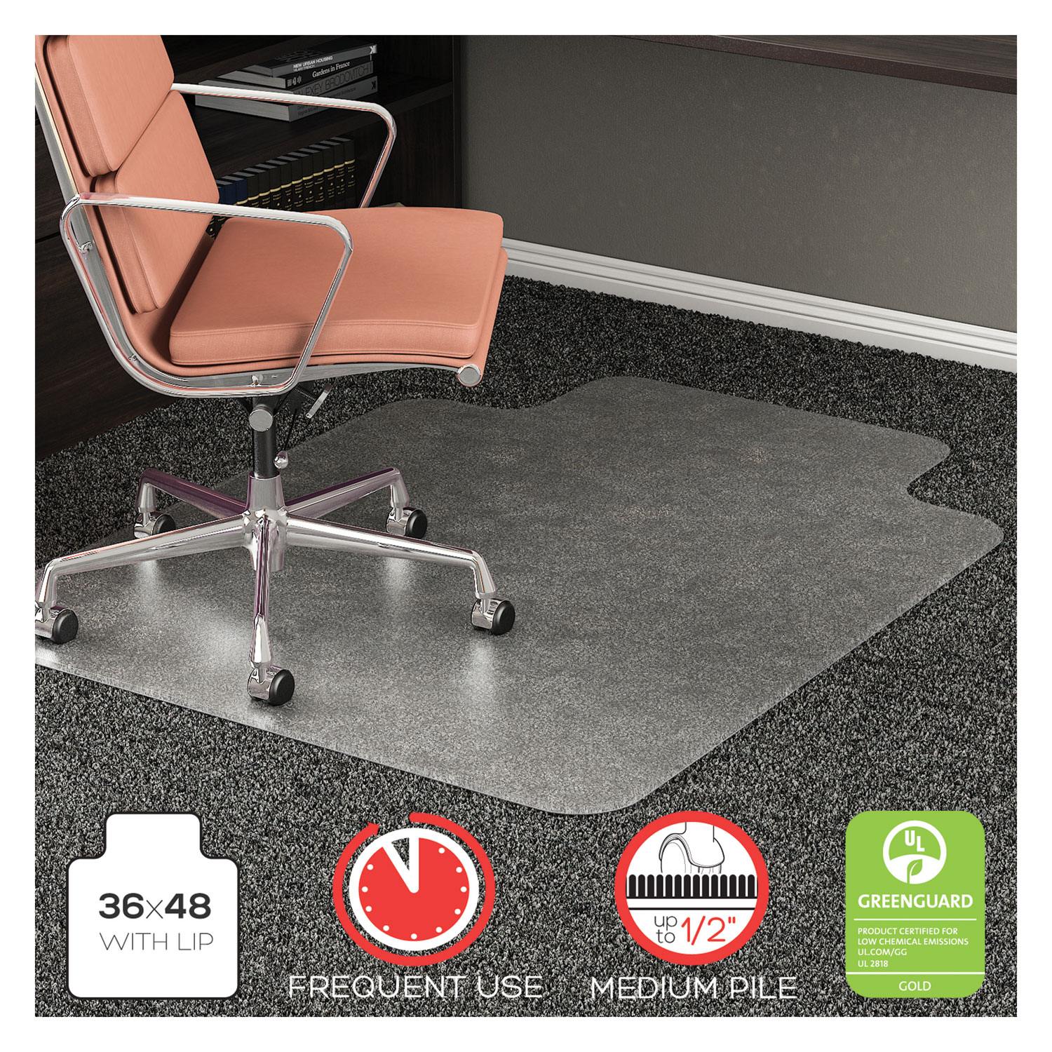 052cf84274f DEFCM15113 deflecto® RollaMat Frequent Use Chair Mat - Zuma
