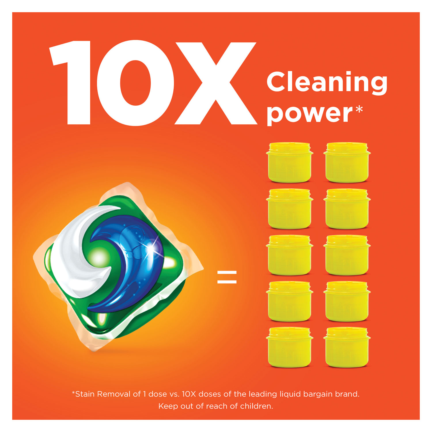 Detergent Pods Spring Meadow Scent 72 Pods Pack 4 Packs