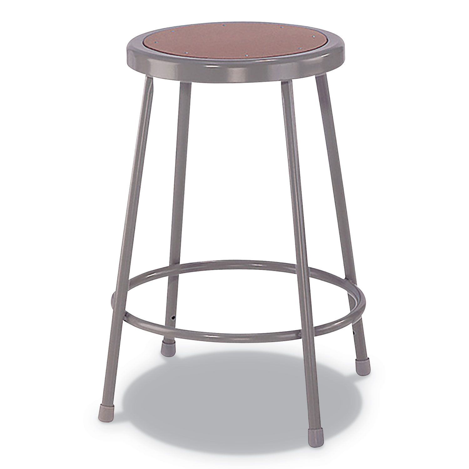 Tremendous Industrial Metal Shop Stool 24 Seat Height Supports Up To 300 Lbs Brown Seat Gray Back Gray Base Ocoug Best Dining Table And Chair Ideas Images Ocougorg