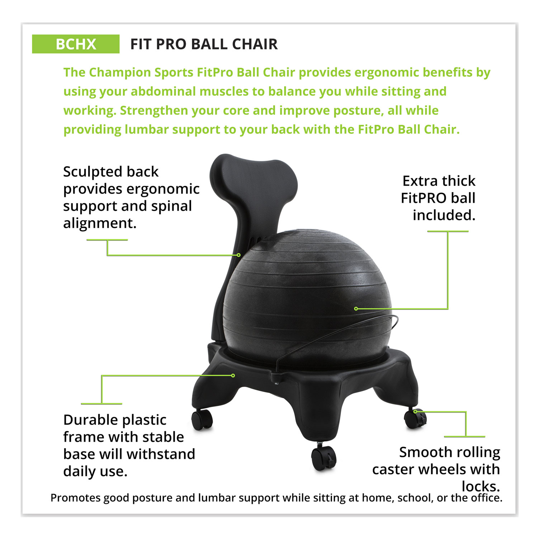 Fitpro Ball Chair Gray Gray Gray Base Lexicon Medical Supply