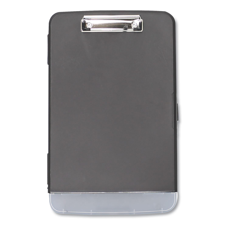 "Storage Clipboard w/Pen Compartment, 1/2"" Capacity, 8 1/2 x 11, Black"