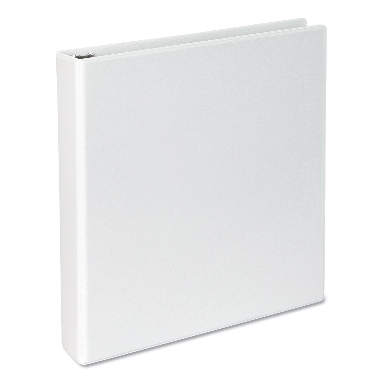 "Slant-Ring View Binder, 3 Rings, 1.5"" Capacity, 11 x 8.5, White"