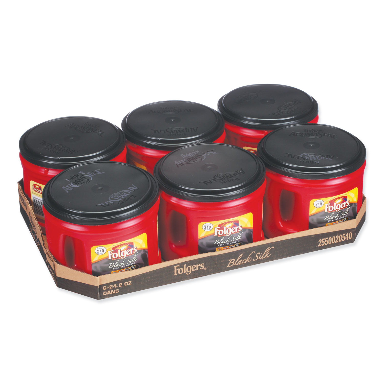 Coffee, Black Silk, 24.2 oz Canister, 6/Carton