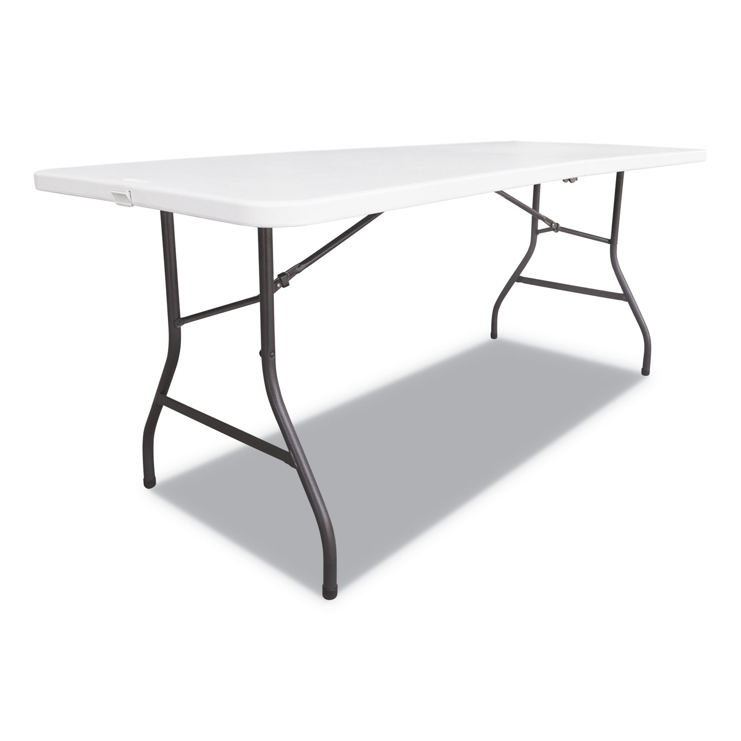 Fold In Half Resin Folding Table 60w X 30d 29h White