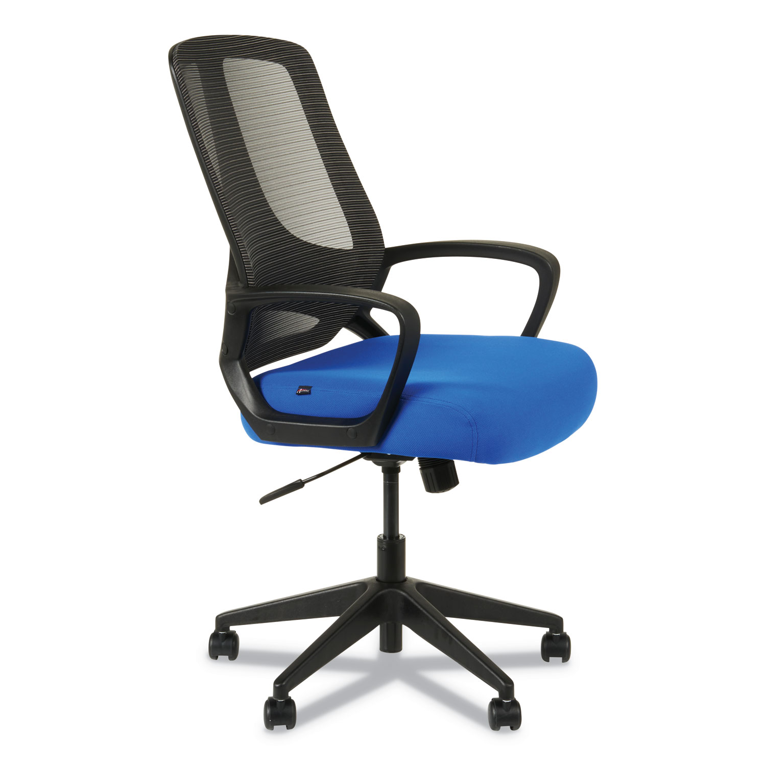 Alera Mb Series Mesh Mid Back Office Chair Supports Up To 275 Lbs Blue Seat Black Back Black Base