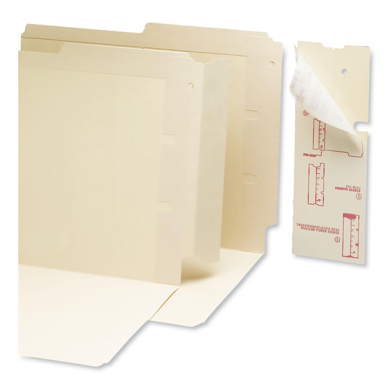 End Tab Converters for Folders, 3 1/4 x 9 1/4, Manila, 500/Box