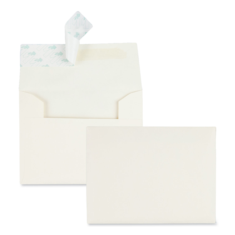 Redi Strip Greeting Card/Invitation Envelope, #5 1/2, 4 3/8 x 5 3/4, Ivory