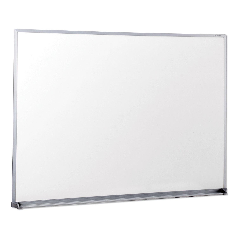 Dry Erase Board, Melamine, 48 x 36, Satin-Finished Aluminum Frame