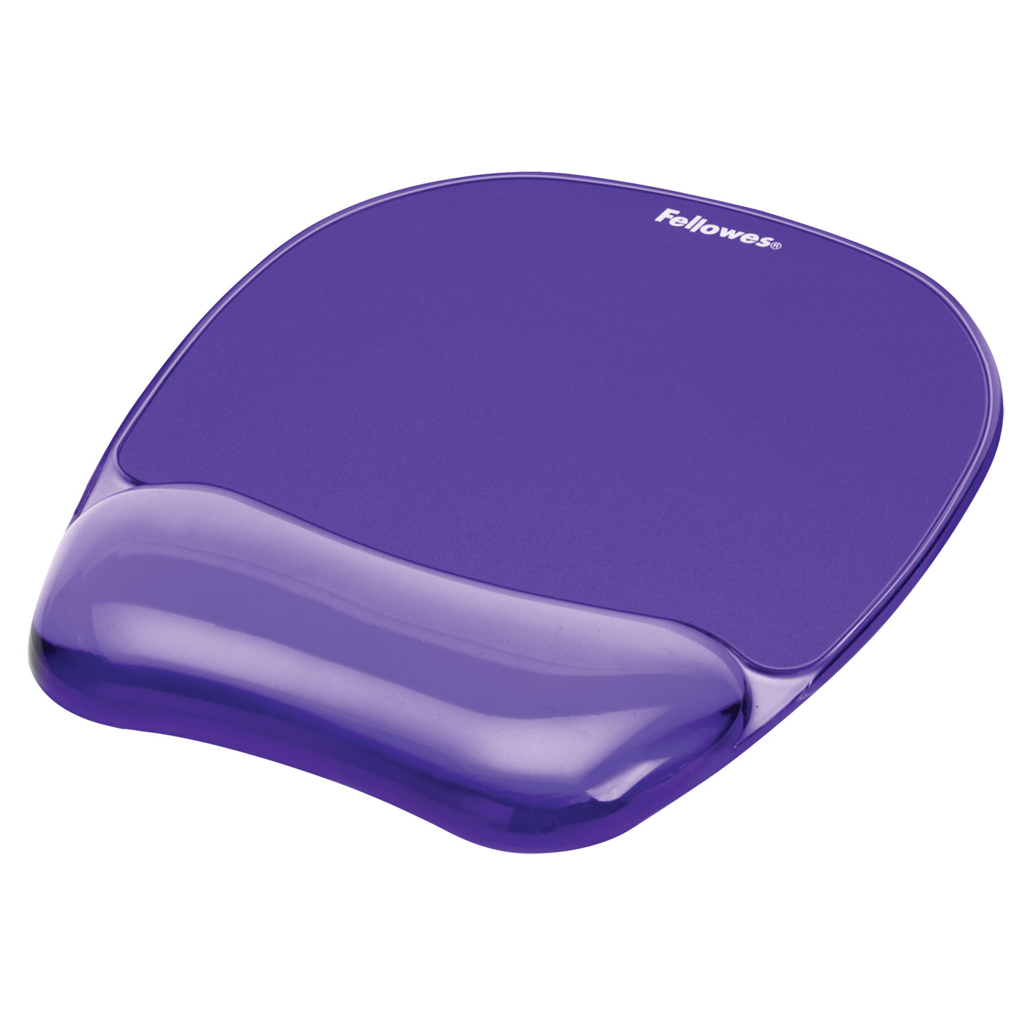 "Gel Crystals Mouse Pad with Wrist Rest, 7.87"" x 9.18"", Purple"