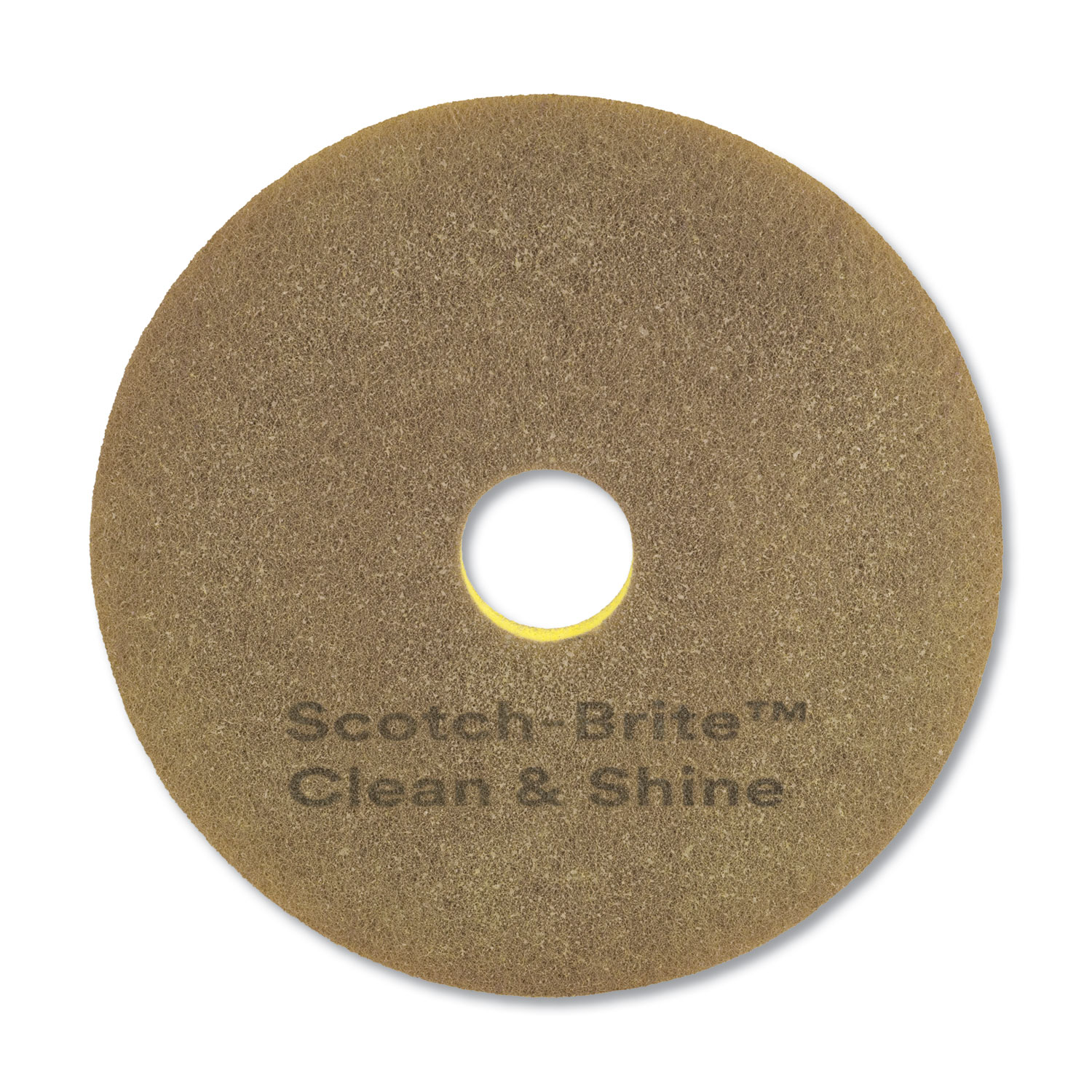 "Scotch-Brite Clean And Shine Pad, 17"" Diameter, Yellow"