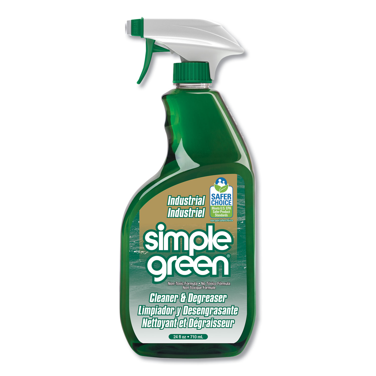 Industrial Cleaner and Degreaser, Concentrated, 24 oz Bottle, 12/Carton