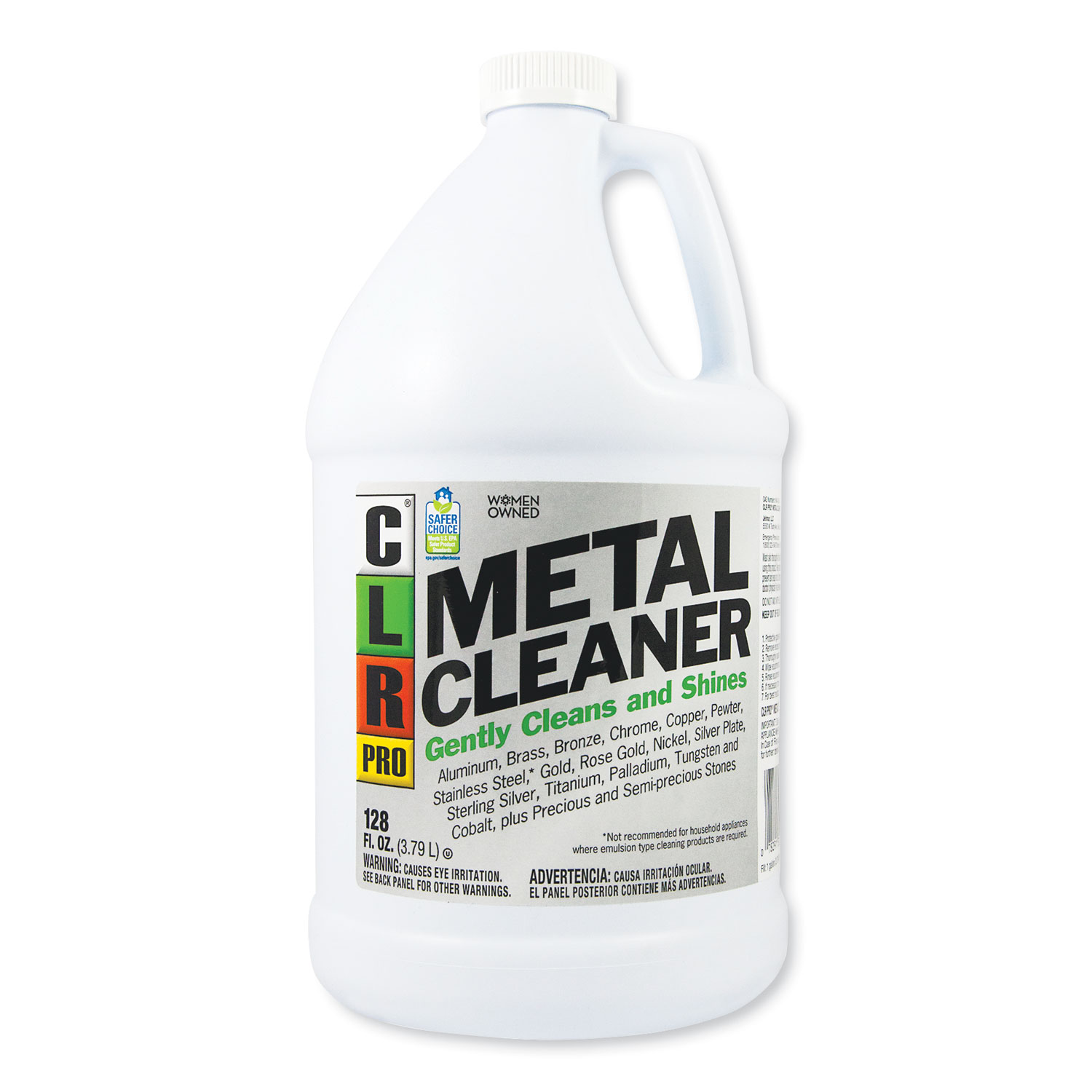 Metal Cleaner, 128 oz Bottle, 4/Carton