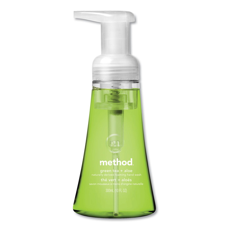 Foaming Hand Wash, Green Tea & Aloe, 10 oz Pump Bottle