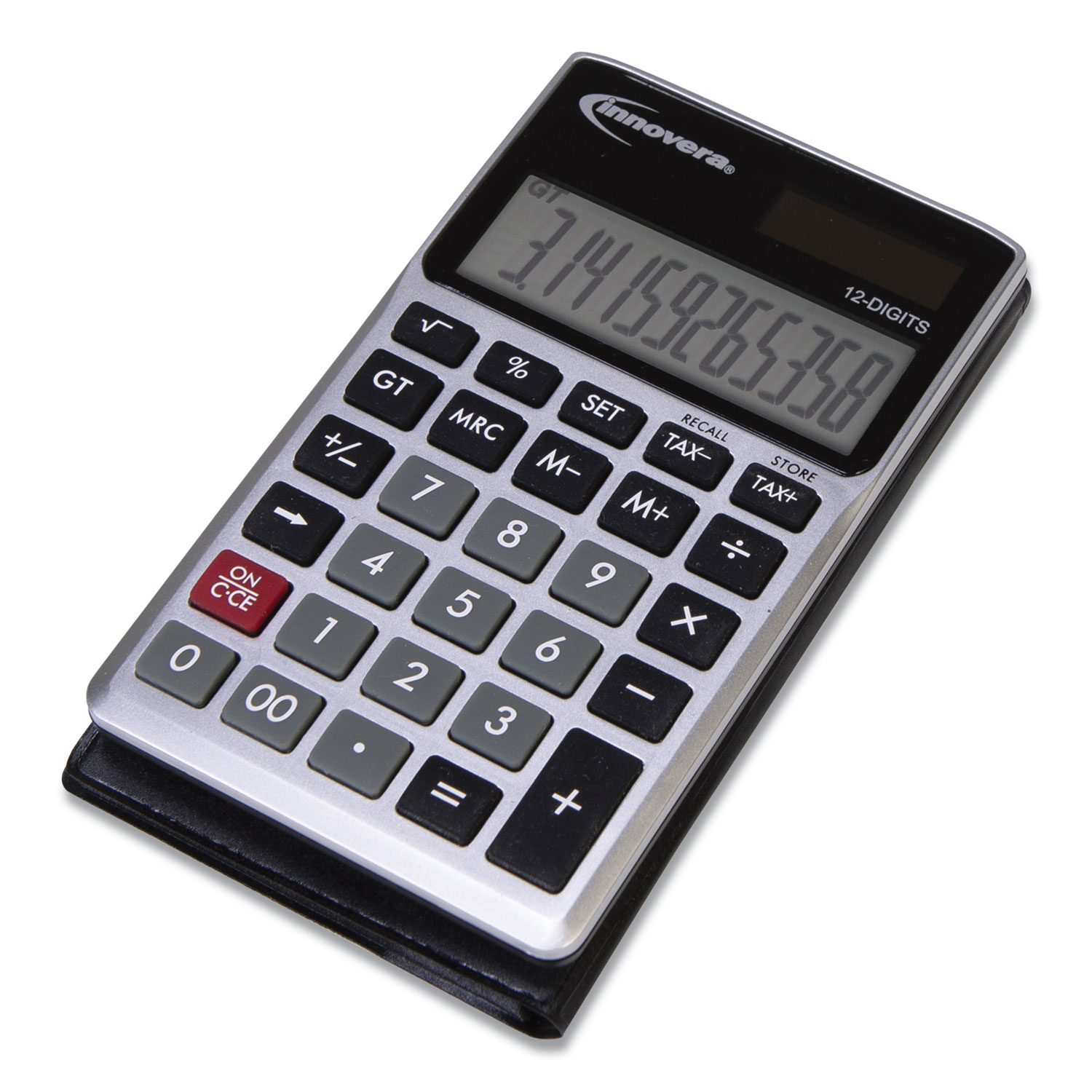 15922 Pocket Calculator, Dual Power, 12-Digit LCD Display