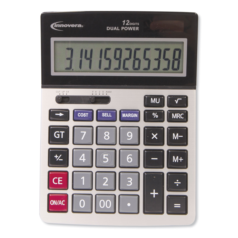 15968 Profit Analyzer Calculator, Dual Power, 12-Digit LCD
