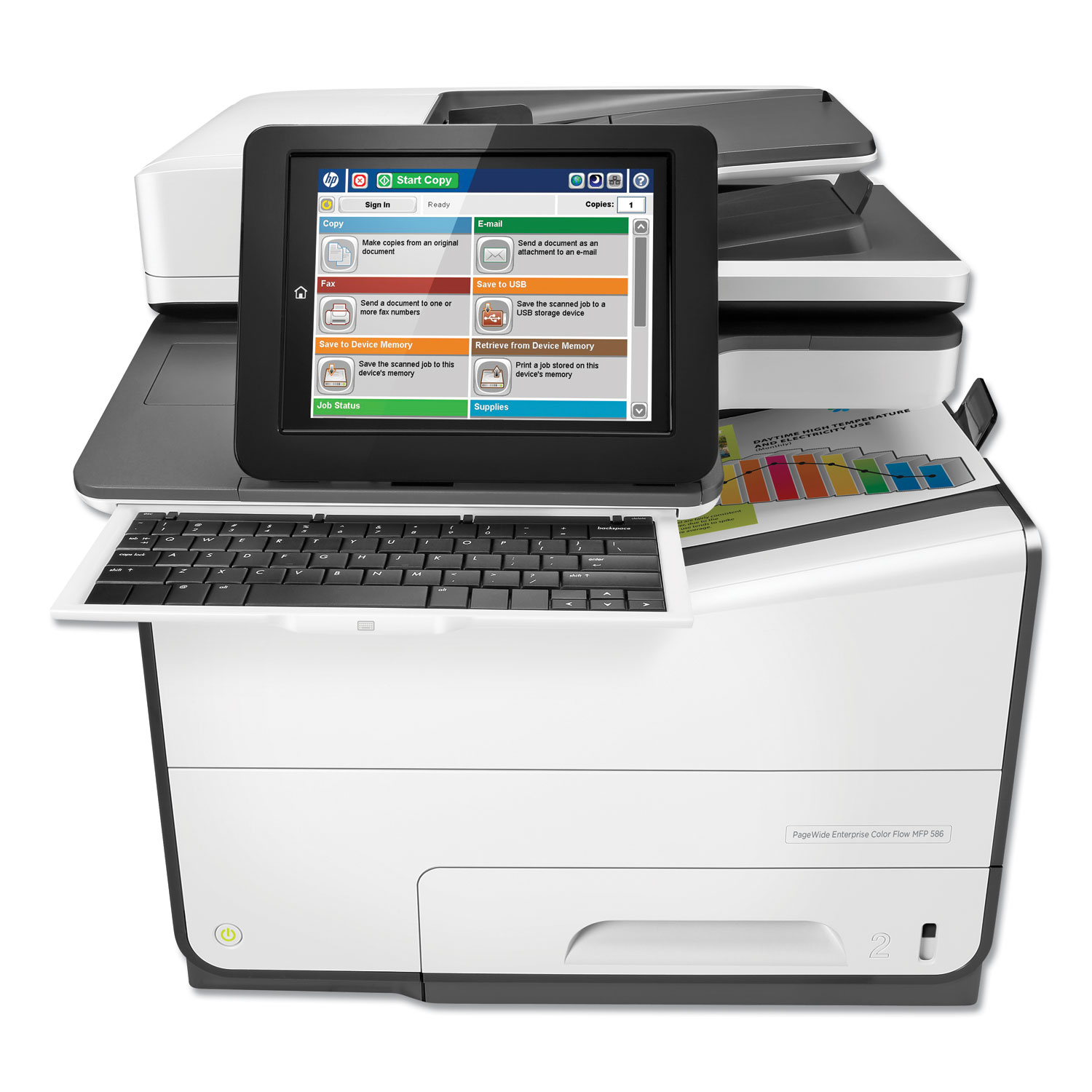 PageWide Enterprise Color MFP 586fz, Copy/Fax/Print/Scan