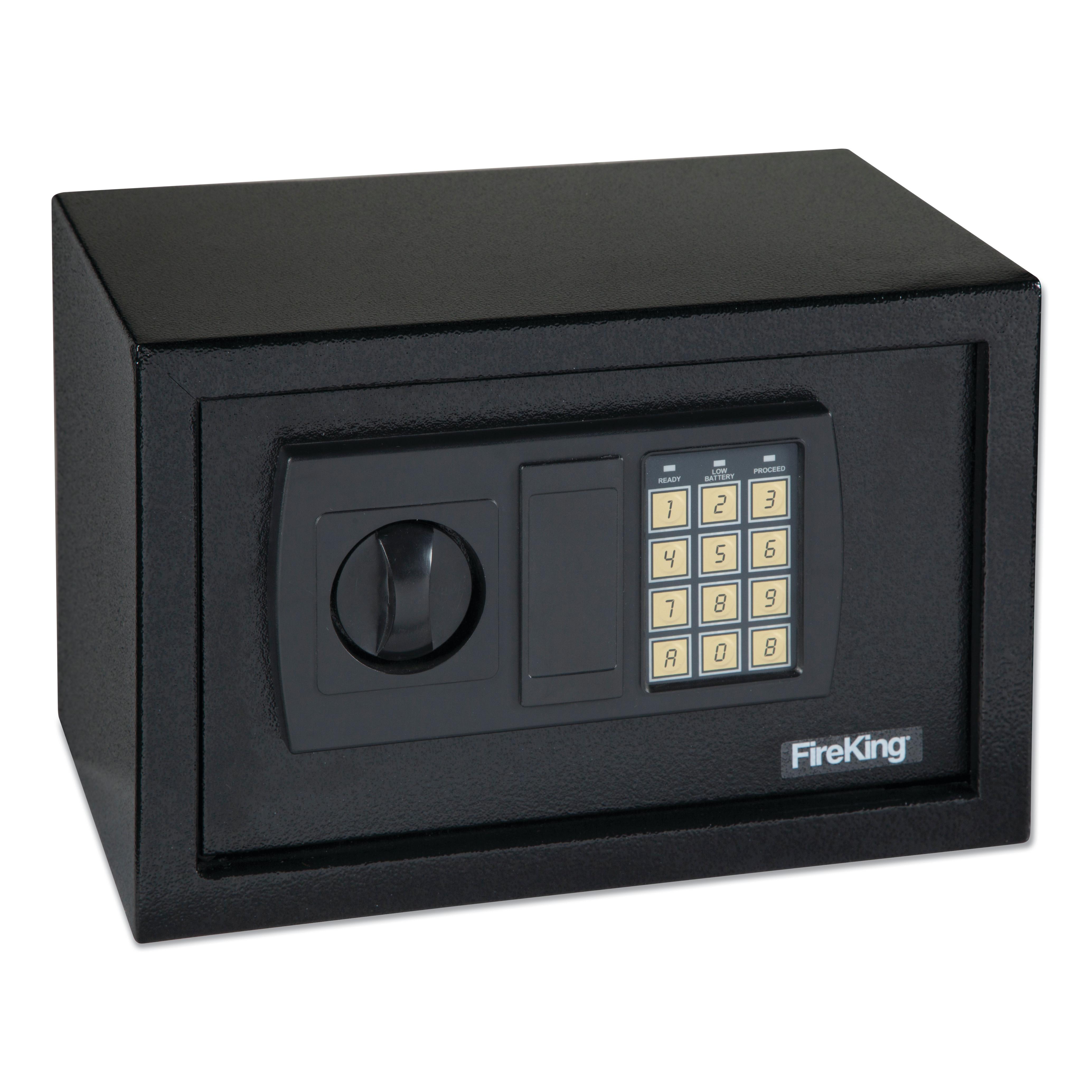 Small Personal Safe, 0.3 cu ft, 12.25w x 7.75d x 7.75h, Black