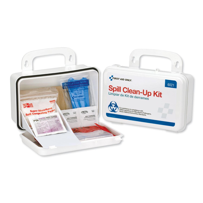 Bbp Spill Cleanup Kit 7 1 2 X 4 1 2 X 2 3 4 White Sani