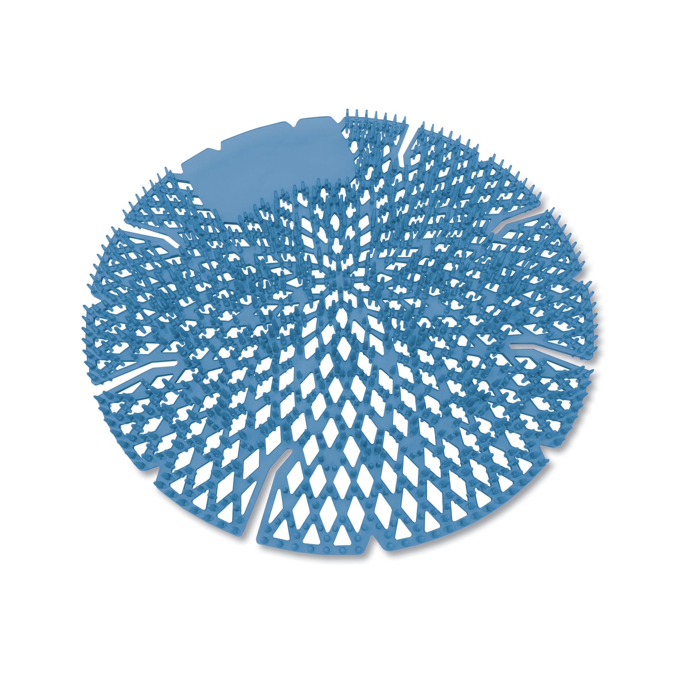 Diamond 3D Urinal Screen, Mountain Air, Blue, 10/Pack, 6 Pack/Carton