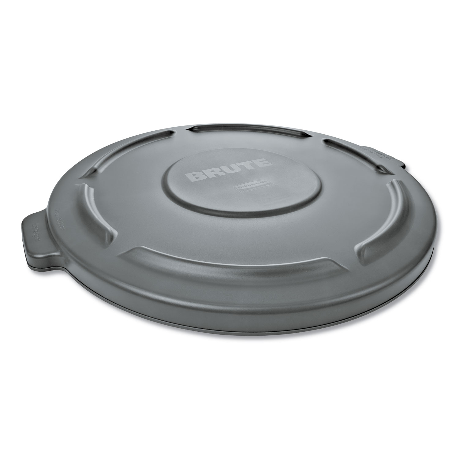 """Round Flat Top Lid, for 32 gal Round BRUTE Containers, 22.25"""" diameter, Gray"""