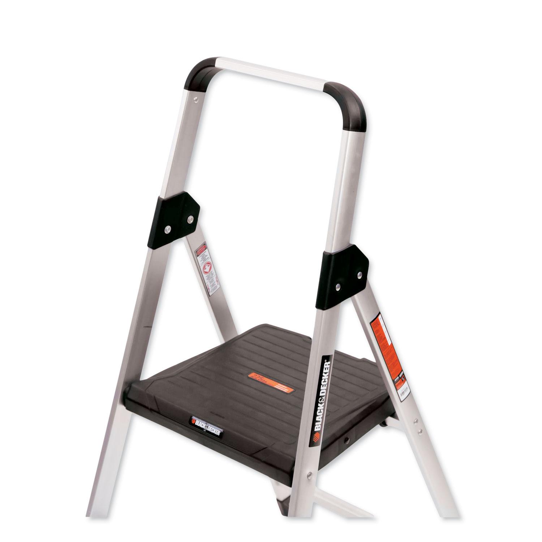 Aluminum Step Stool Ladder 2 Step 225 Lb Capacity 18 5w