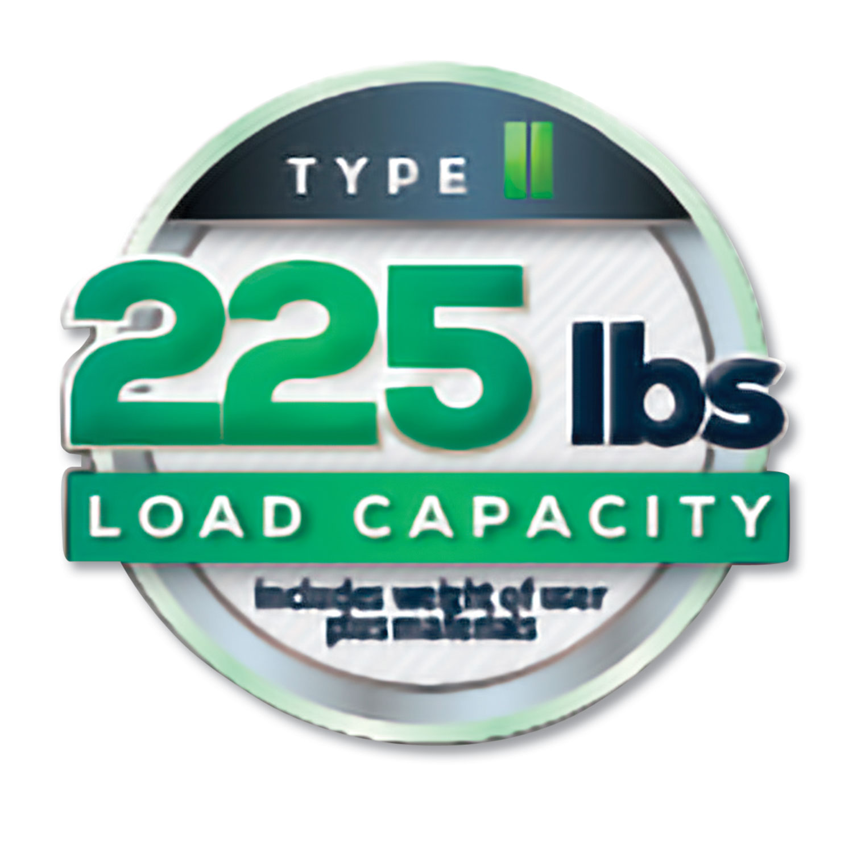 Aluminum Step Stool Ladder, 225 lb Capacity, 18 1/2w x 23 1