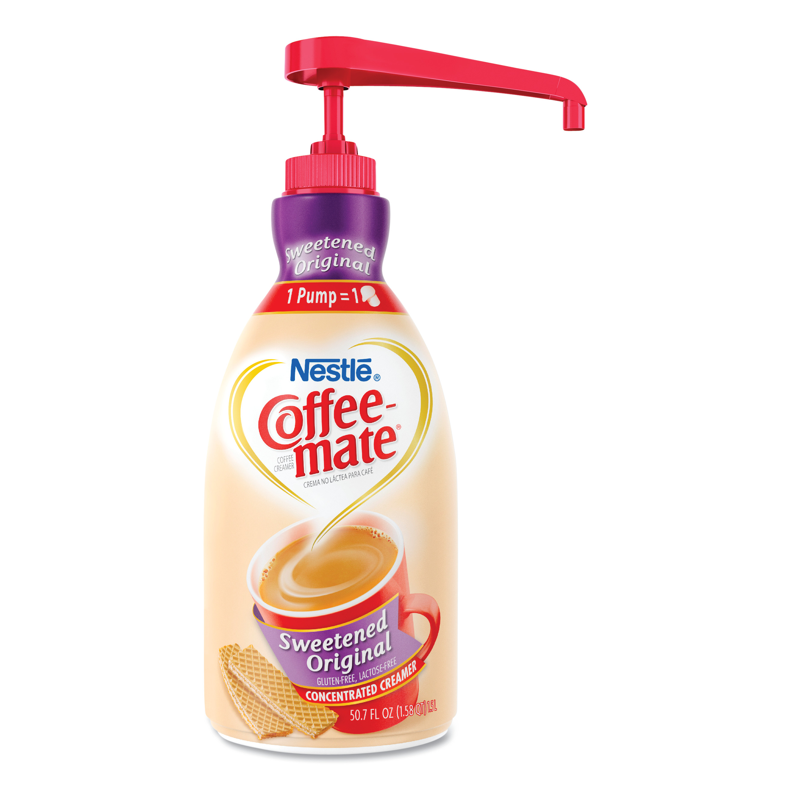 Liquid Coffee Creamer, Sweetened Original, 1500mL Pump Dispenser