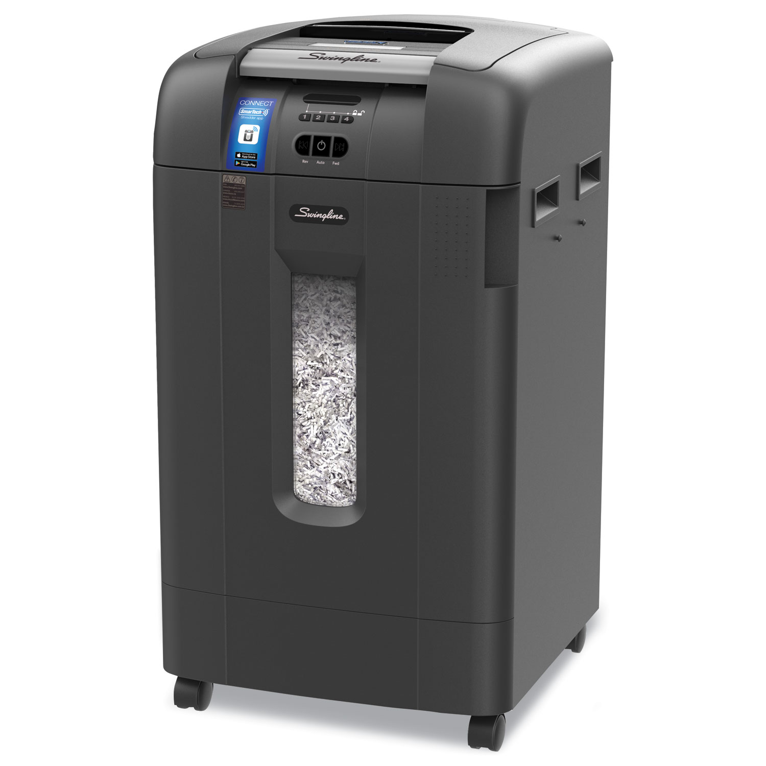 Stack-and-Shred 750XL SmarTech Enabled Hands Free Super Cross-Cut Shredder Value Pack, 750 Auto/12 Manual Sheet Capacity