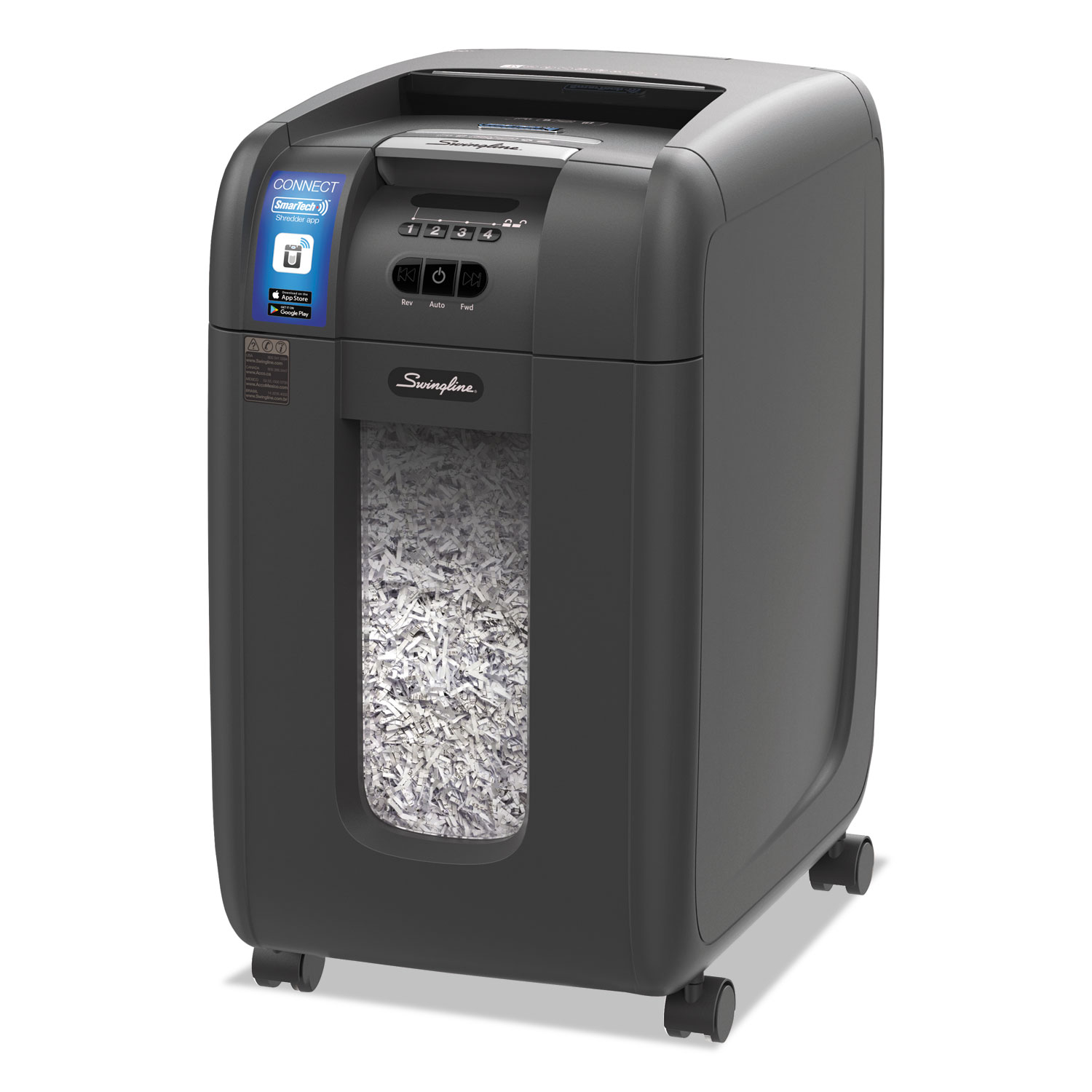 Stack-and-Shred 300XL Auto Feed Super Cross-Cut Shredder Value Pack, 300 Auto/8 Manual Sheet Capacity