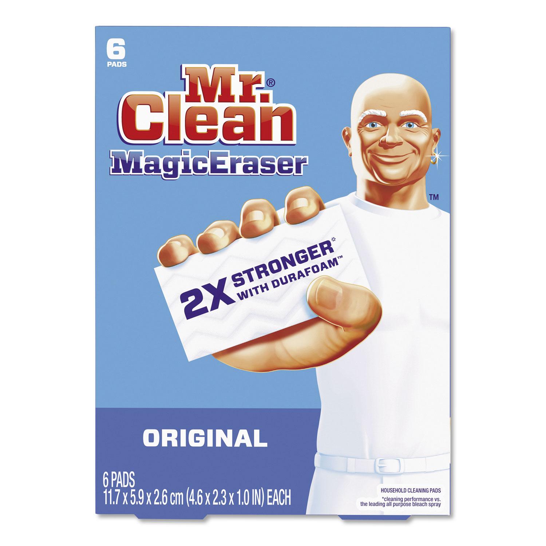 Magic Eraser, 2 3/10 x 4 3/5 x 1, White, 6/Pack, 6 Pack/Carton