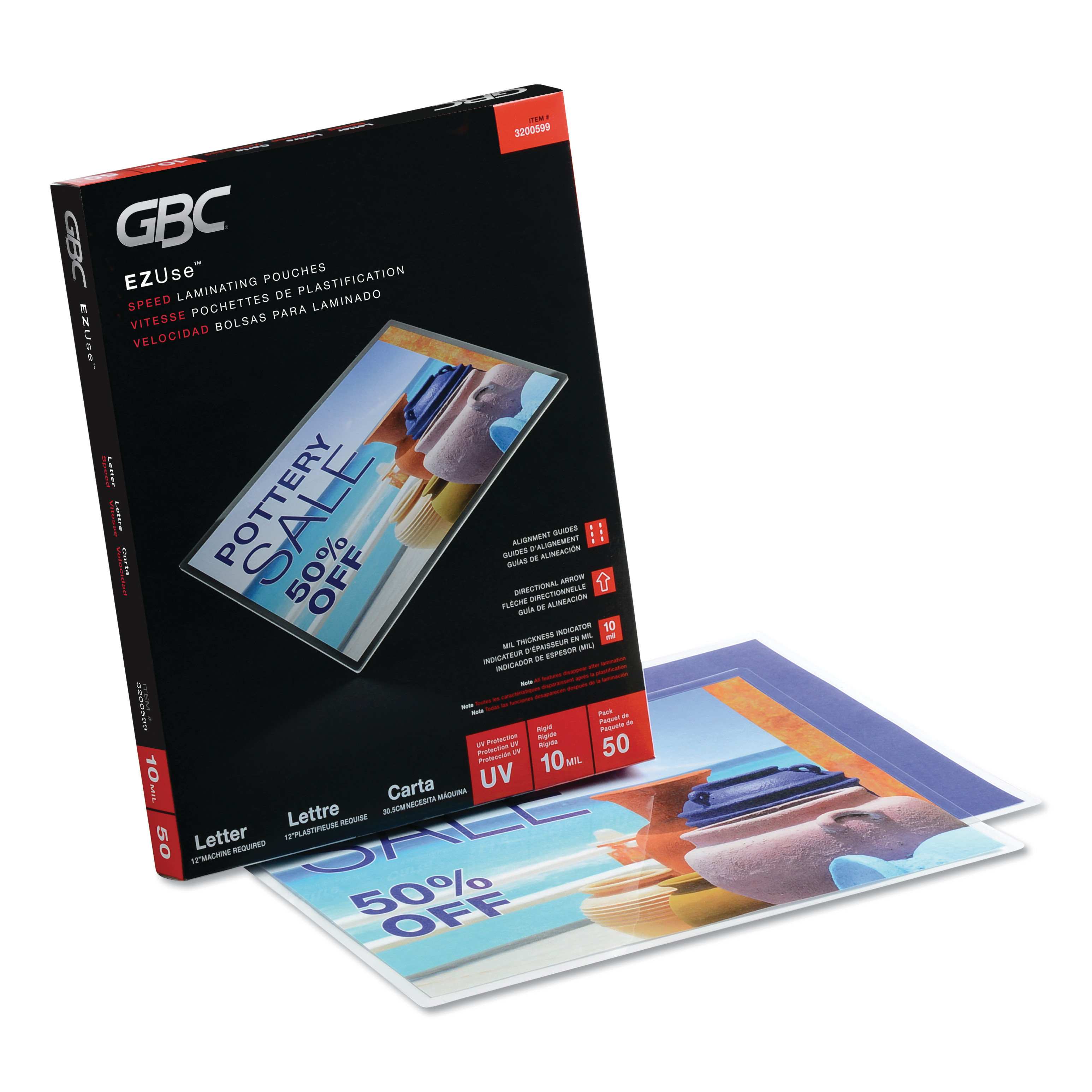 Glossy 100 sheets 10 mil Letter Laminating Pouches 9 x 11.5 Hot//Thermal