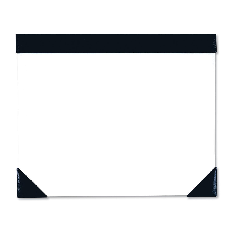 Executive Doodle Desk Pad, 25-Sheet White Pad, Refillable, 22 x 18, Black/Silver
