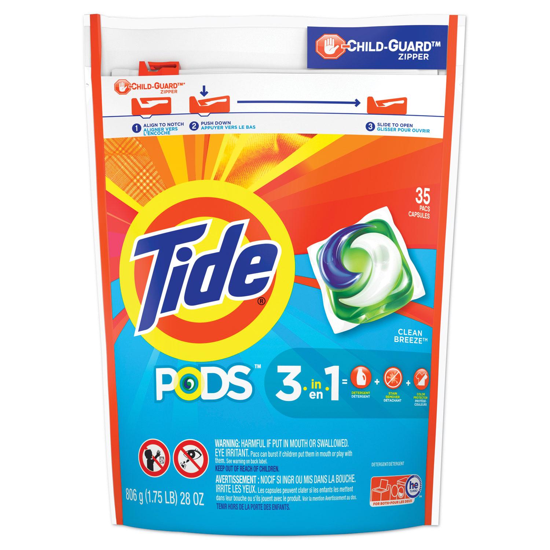 Pods, Laundry Detergent, Clean Breeze, 35/Pack