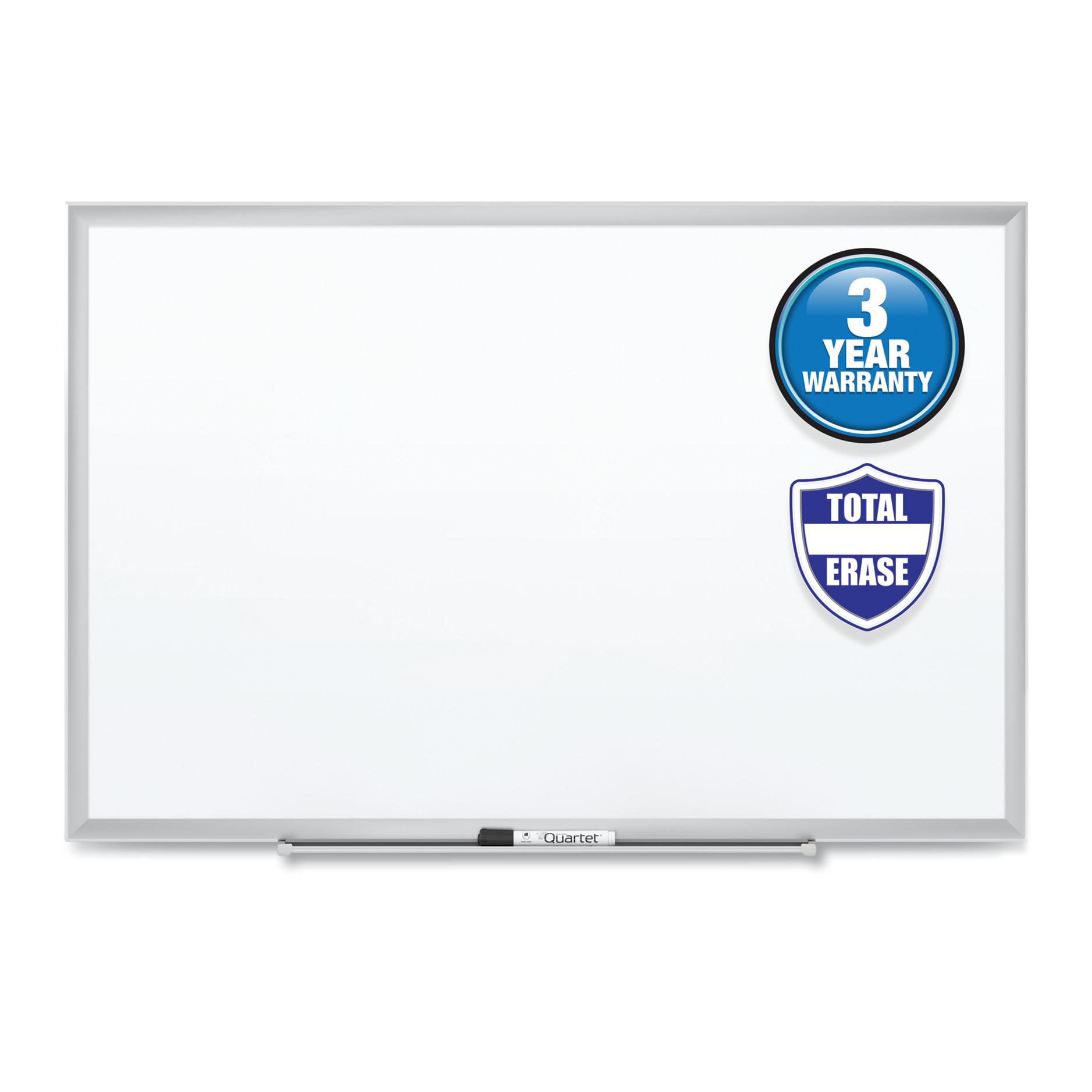 Classic Series Total Erase Dry Erase Board, 24 x 18, Silver Aluminum Frame