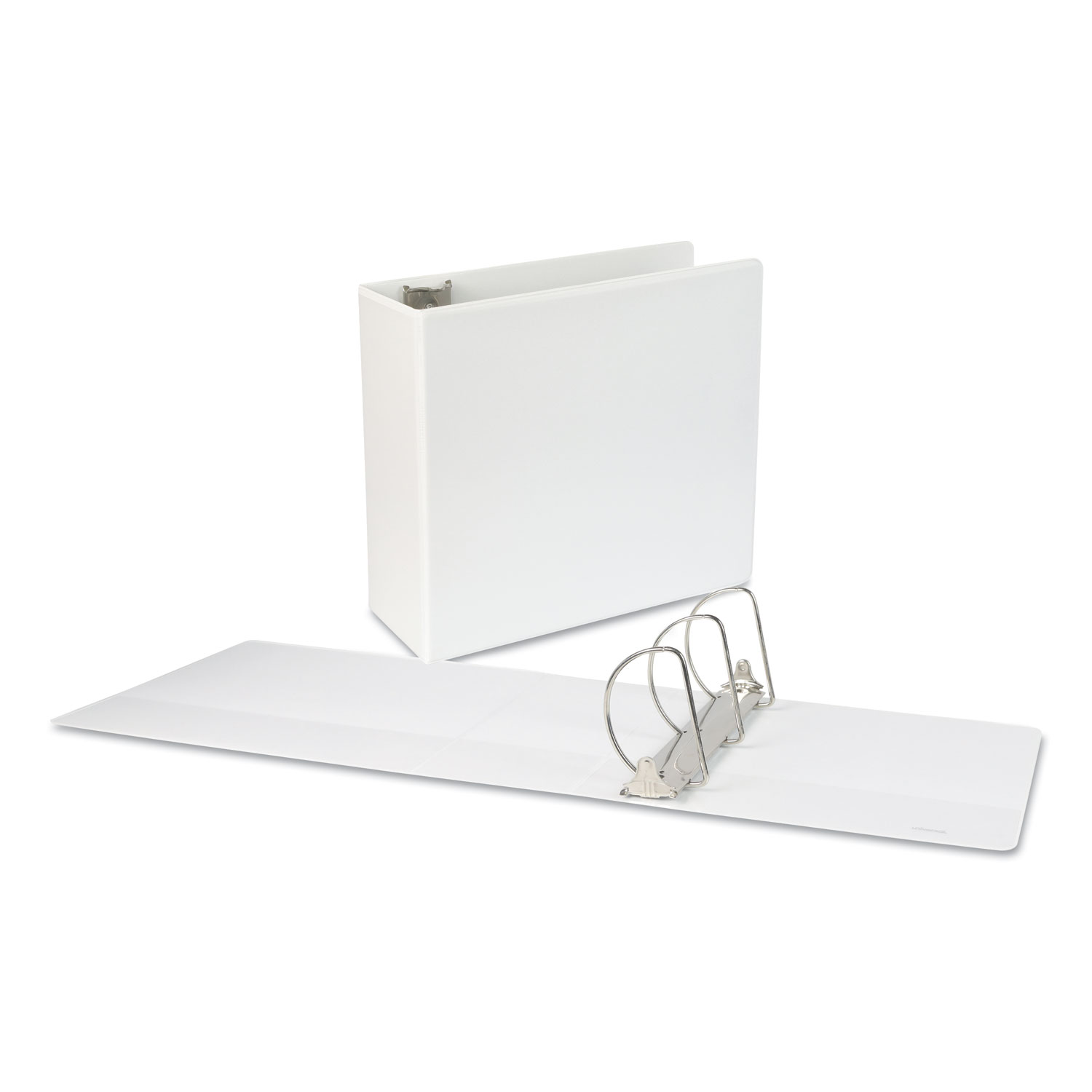 "Slant-Ring View Binder, 3 Rings, 5"" Capacity, 11 x 8.5, White"