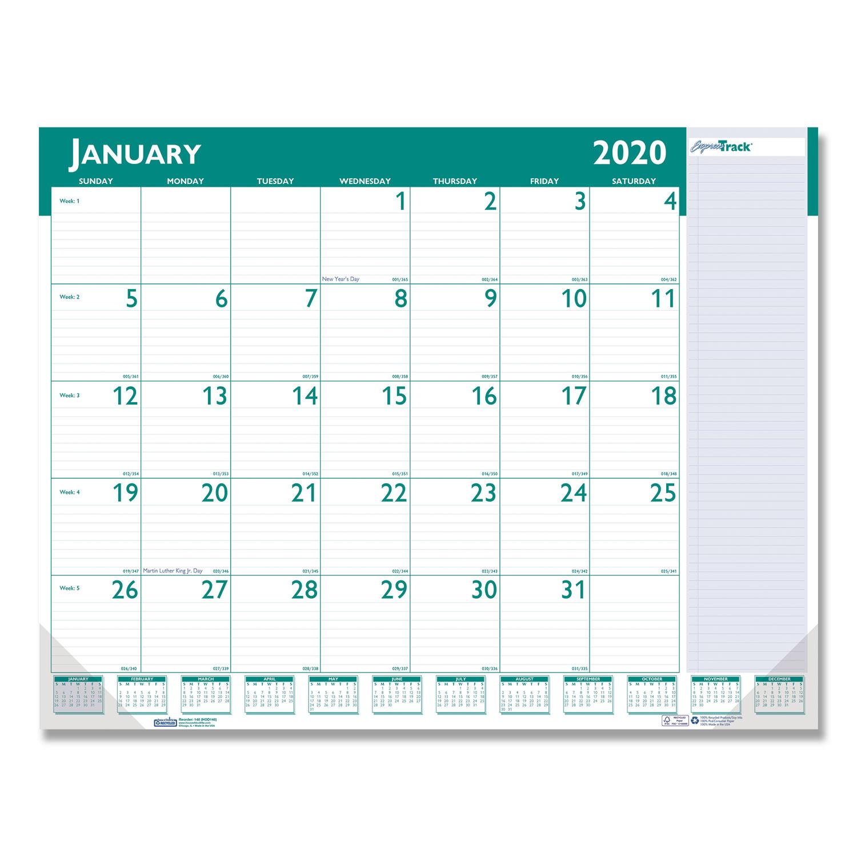 Express Track Monthly Desk Pad Calendar, 22 x 17, 2020 ...
