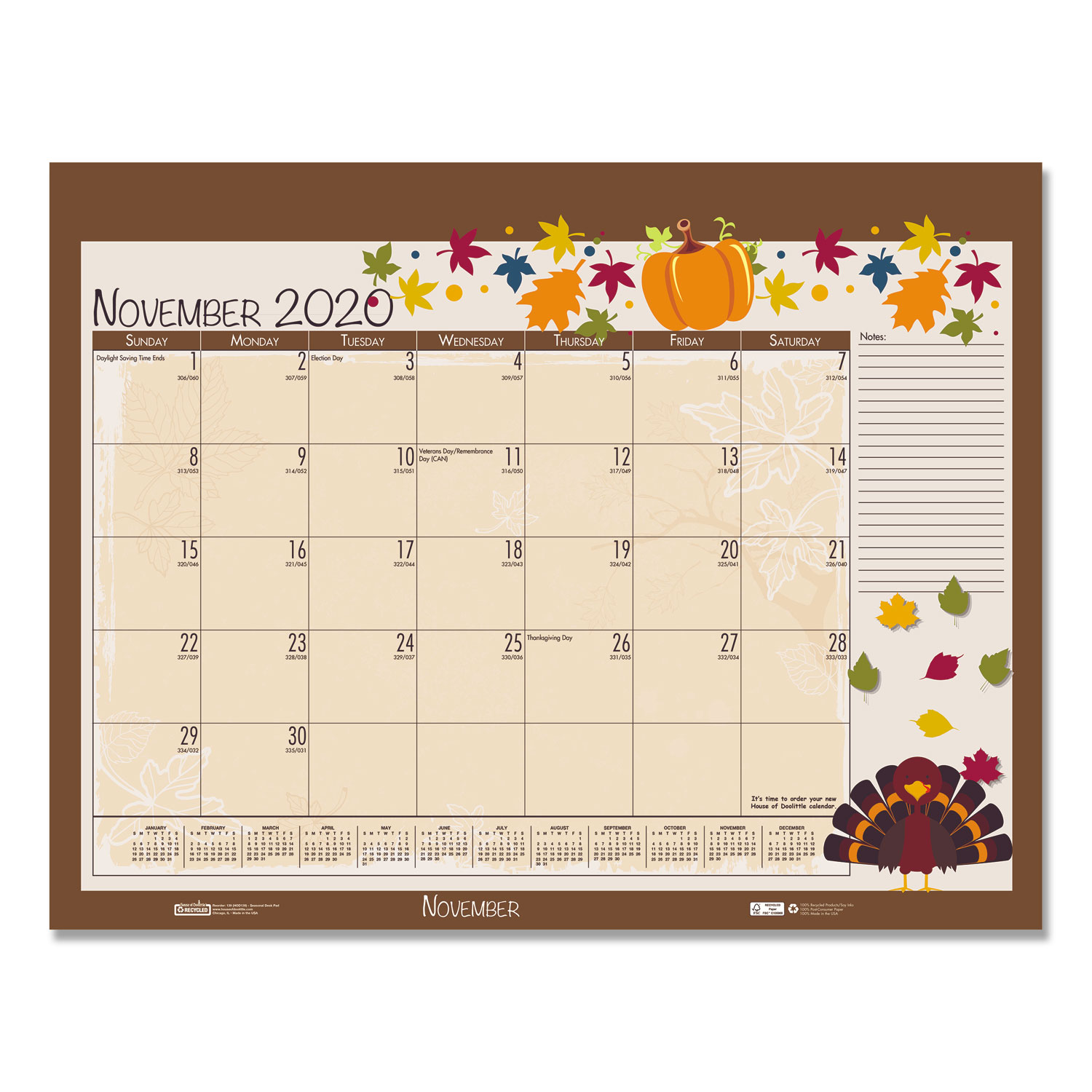 2019 2020 Floral Desk Calendar: Earthscapes Seasonal Desk Pad Calendar, 22 X 17