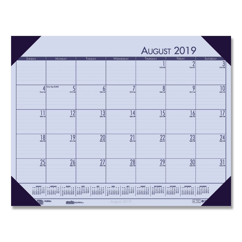 Desk Calendar 2020.Recycled Ecotones Academic Desk Calendar 18 5 X 13 Cordovan Corners 2019 2020